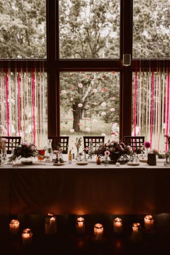 stół weselny państwa młodych
